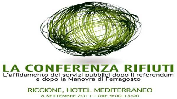 Conferenza rifiuti a Riccione