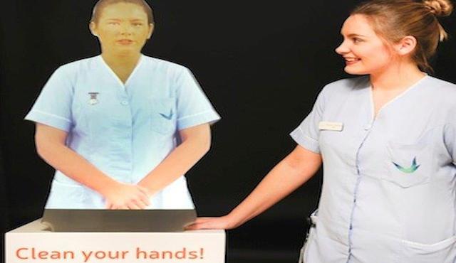 Ologrammi per promuovere l'igiene delle mani in ospedale