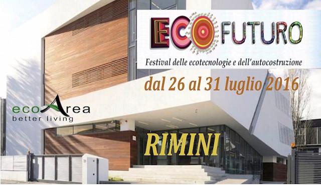 EcoFuturo: dal 26 al 31 luglio torna a Rimini la fiera delle eco-tecnologie