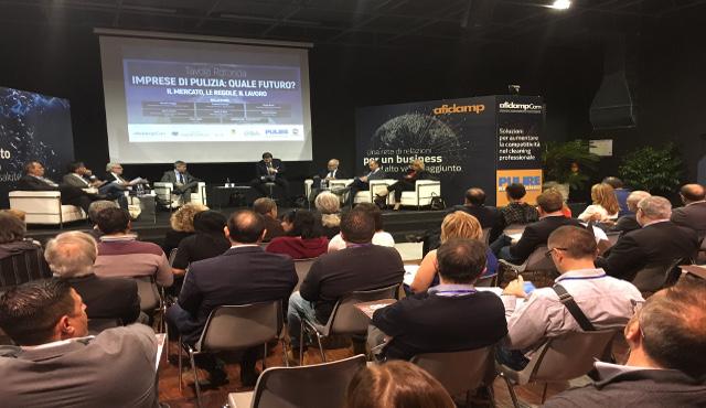 Imprese di pulizia: quale futuro? Grandissima partecipazione per il convegno promosso da AIS-Fnip Confcommercio a Pulire Mediterraneo