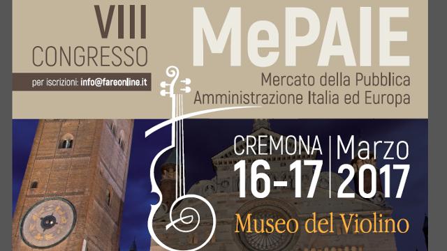 Strumenti, metodi e risultati nel contenimento della spesa pubblica: torna a Cremona il MePaie