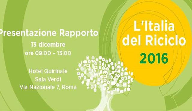 L'Italia del riciclo 2016