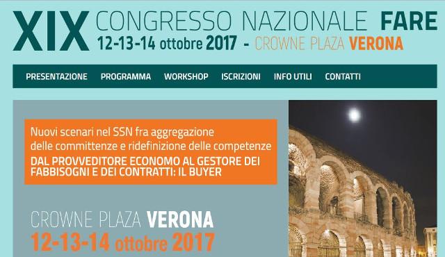 A Verona dal 12 al 14 ottobre il XIX Congresso FARE