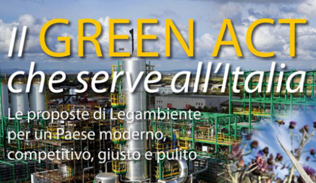 "Il ""Green Act"" che serve all'Italia"