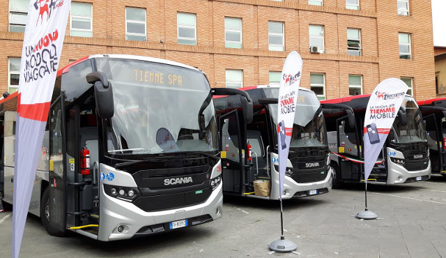 Nuovi autobus Scania  per il trasporto extraurbano in Toscana
