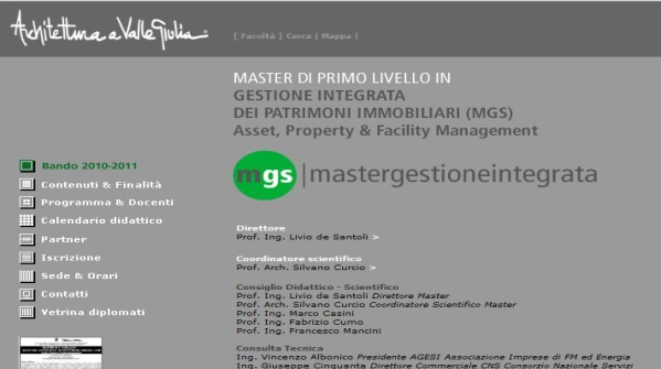 """Parte il master in """"Gestione Integrata dei Patrimoni Immobiliari – Asset, Property & Facility Management"""" alla Sapienza di Roma"""