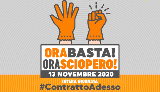 Imprese pulizia e servizi integrati, il 13 novembre in sciopero 600mila addetti in Italia