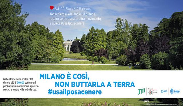 """""""Milano é così"""", campagna contro i mozziconi per terra"""
