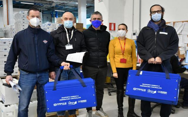 Formula Servizi e Polo Autotrasporti impegnate nella consegna del vaccino in Romagna