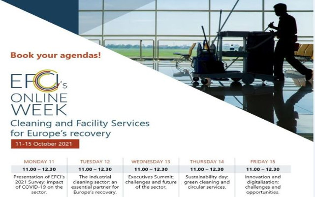 EFCI ospita una settimana di seminari online sui servizi di pulizia