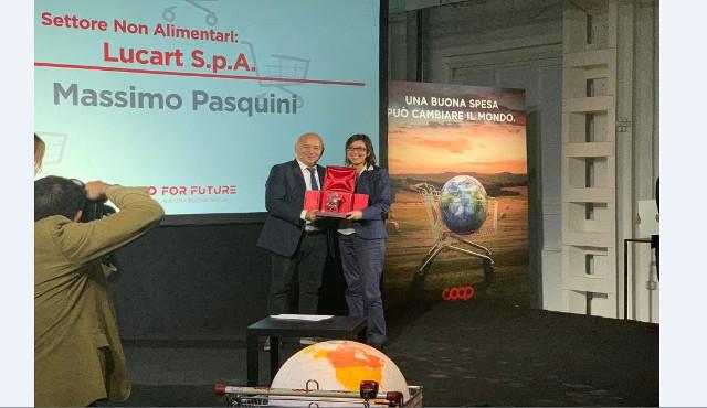 Sostenibilità: Lucart vince il premio Coop for Future