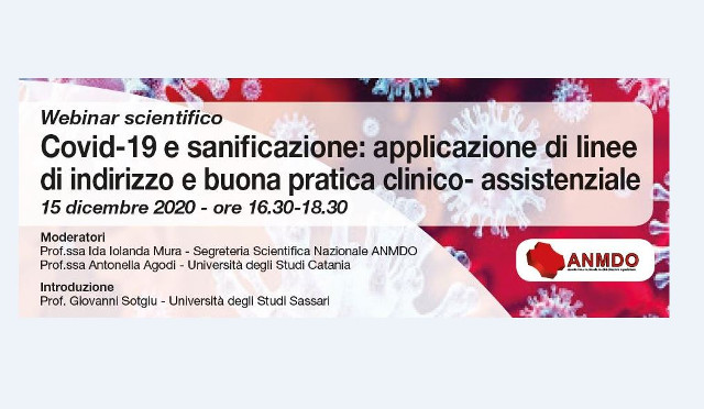 Webinar scientifico su Covid e sanificazione