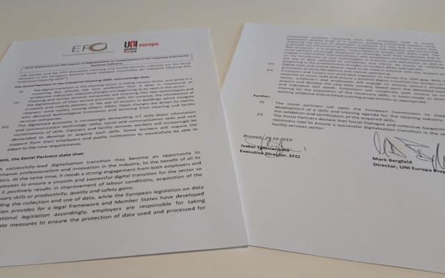 Digitalizzazione nelle imprese di servizi: dichiarazione congiunta UNI Europa e EFCI