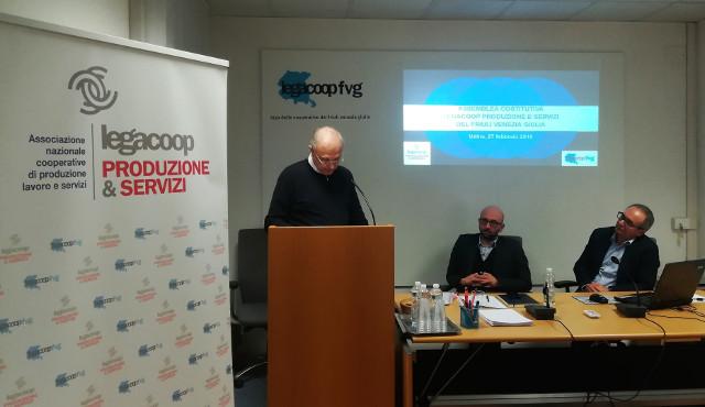 """Enzo Gasparutti eletto presidente di  """"Legacoop Produzione&Servizi Fvg"""""""