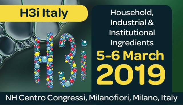 H3I Italy: un evento per la detergenza, dalla materia prima al formulato