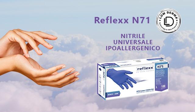 Il guanto ipoallergenico per prevenire la dermatite da contatto alle mani: Reflexx N71
