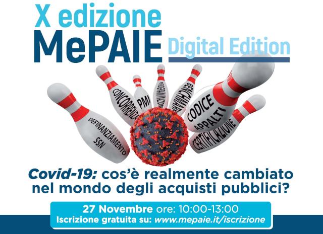 X MePAIE digital edition: Covid-19 cos'è realmente cambiato nel mondo degli acquisti pubblici?