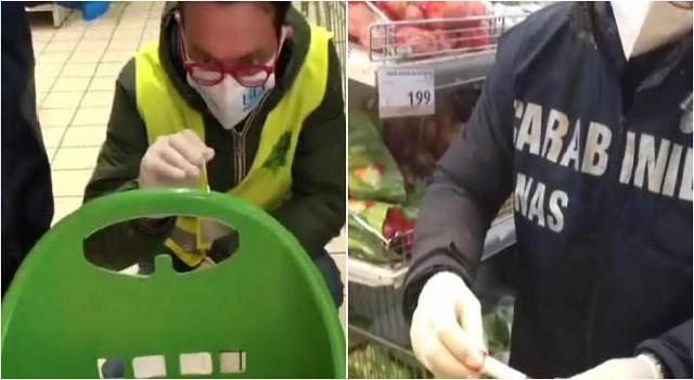 NAS nei supermercati: tracce di Covid e gravi carenze igieniche