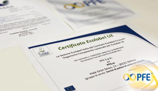 PFE green: arriva la certificazione Ecolabel