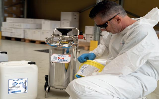 Coronavirus, la linea di disinfettanti Newpharm® per sanificare ambienti e superfic