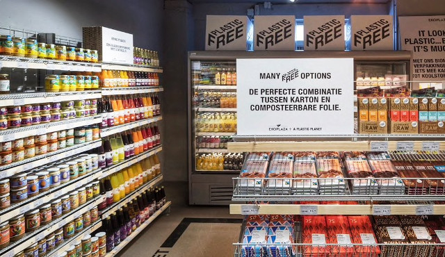 Ad Amsterdam,il primo supermercato del mondo senza plastica