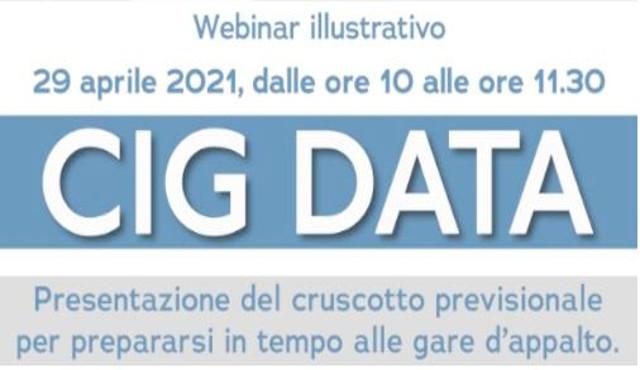 Cig Data viene presentato in un webinar  il 29 aprile