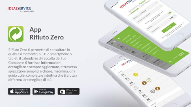 È online il nuovo portale Idealservice collegato alla app Rifiuto Zero