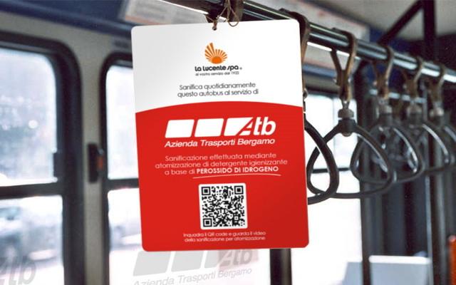 La Lucente SpA si aggiudica l'appalto per la sanificazione degli autobus di Bergamo