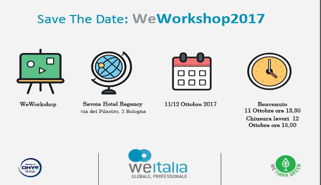 "WeWorkshop 2017: in ottobre a Bologna lo ""speed date"" di We Italia"